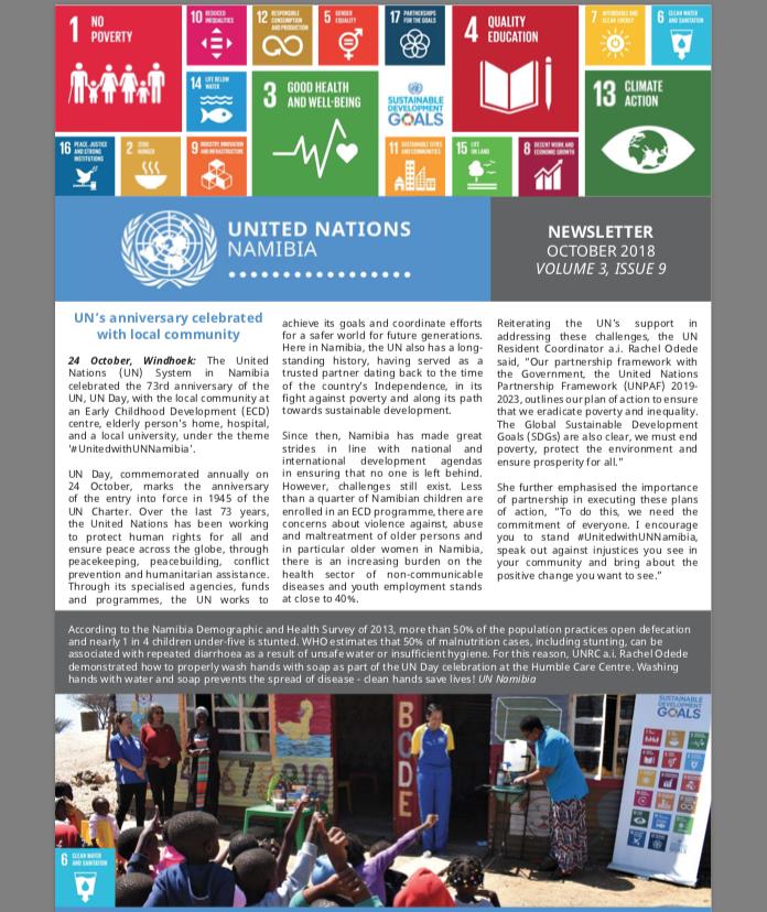 UN Namibia Newsletter - Oct 2018