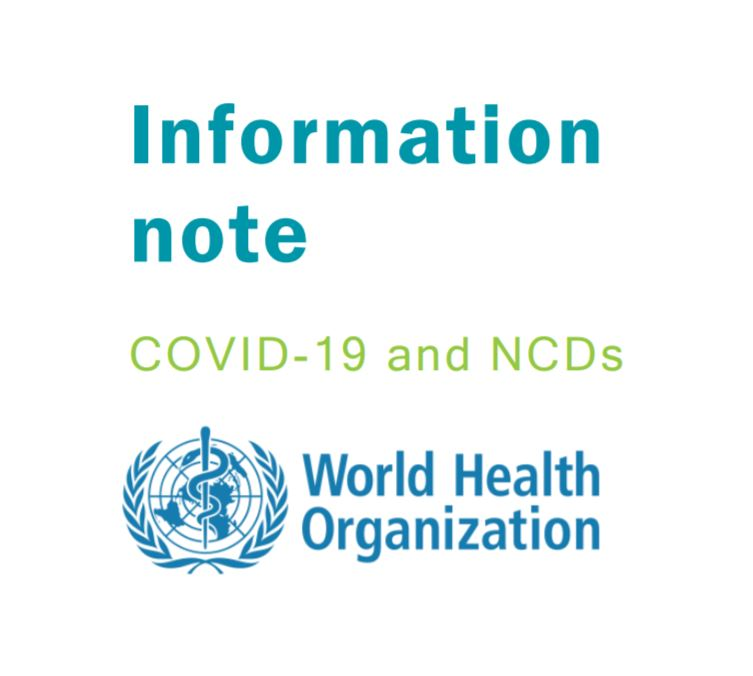 Information Note COVID-19 and Non-Communicable Diseases