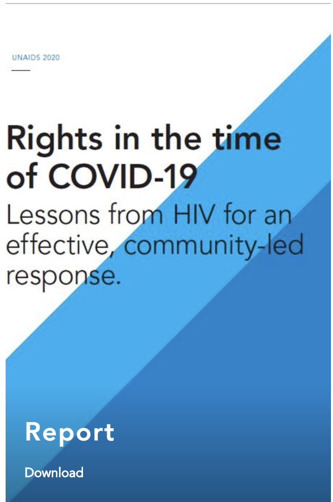 Rights in the time of COVID-19 — Lessons from HIV for an effective, community-led response