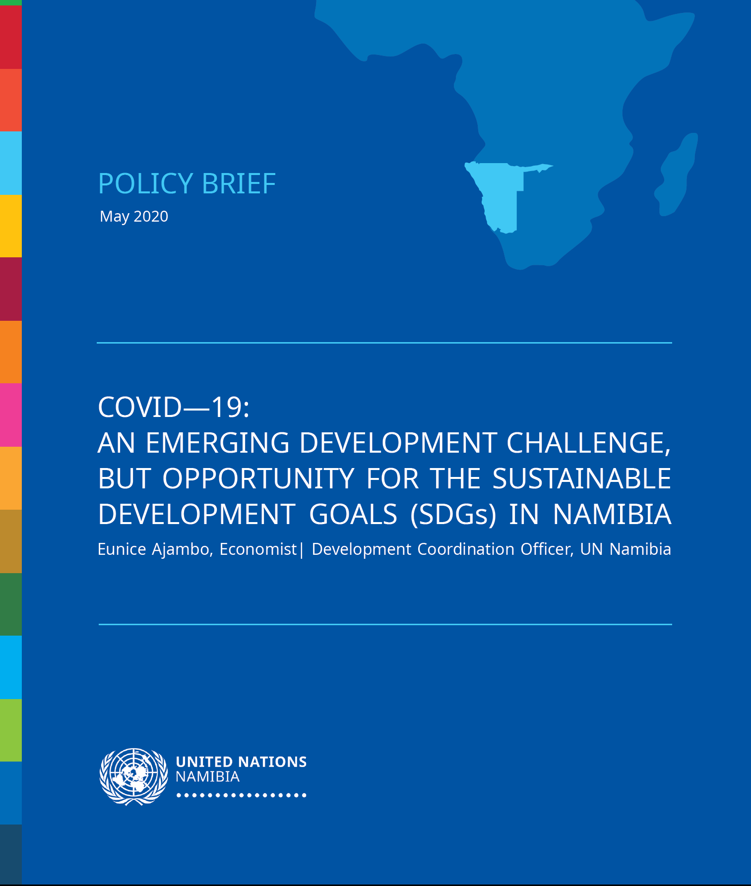 """The United Nations (UN) Namibia launched a policy brief titled: """"COVID-19: An Emerging Development Challenge, but opportunity for the Sustainable Development Goals (SDGs) in Namibia."""""""