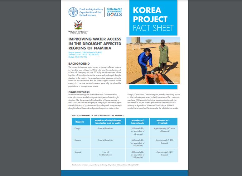 Korea project fact sheet