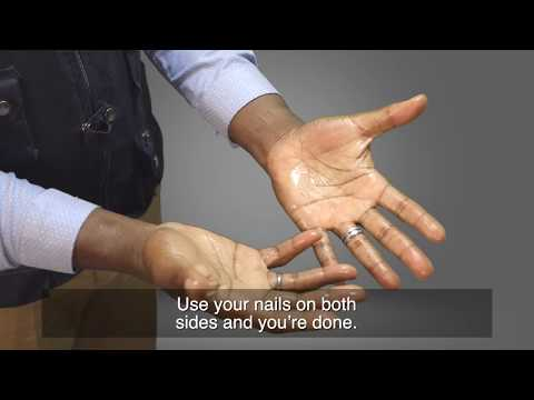 How to wash your hands with hand gel