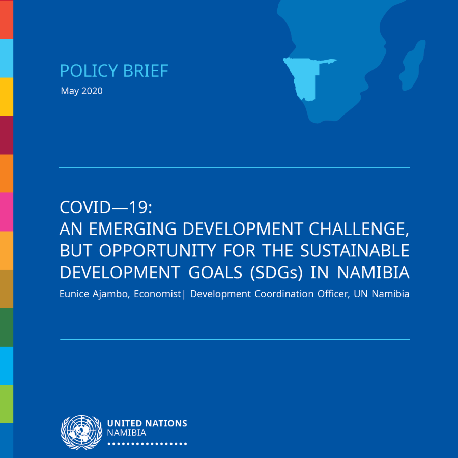 COVID-19: An Emerging Development Challenge, but opportunity for the Sustainable Development Goals  (SDGs) in Namibia