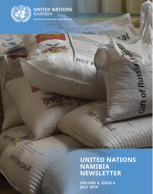 Cover of the UN Namibia Newsletter July edition