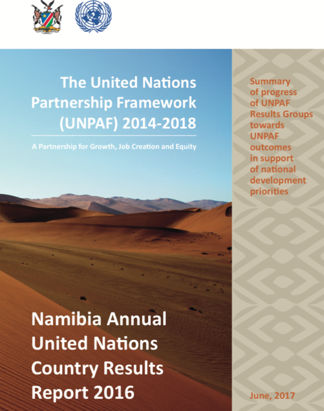 Namibia Annual United Nations Country Results Report 2016