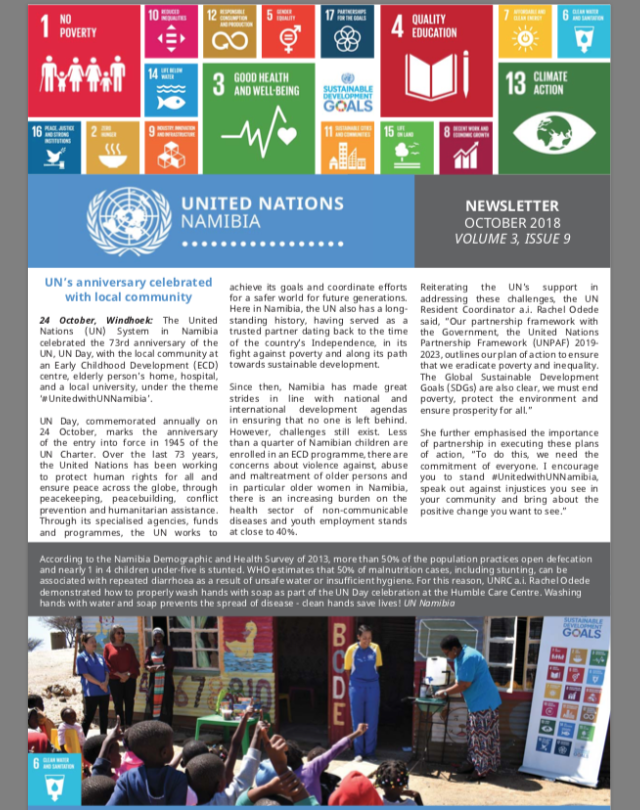 UN Namibia Newsletter - Oct 2018