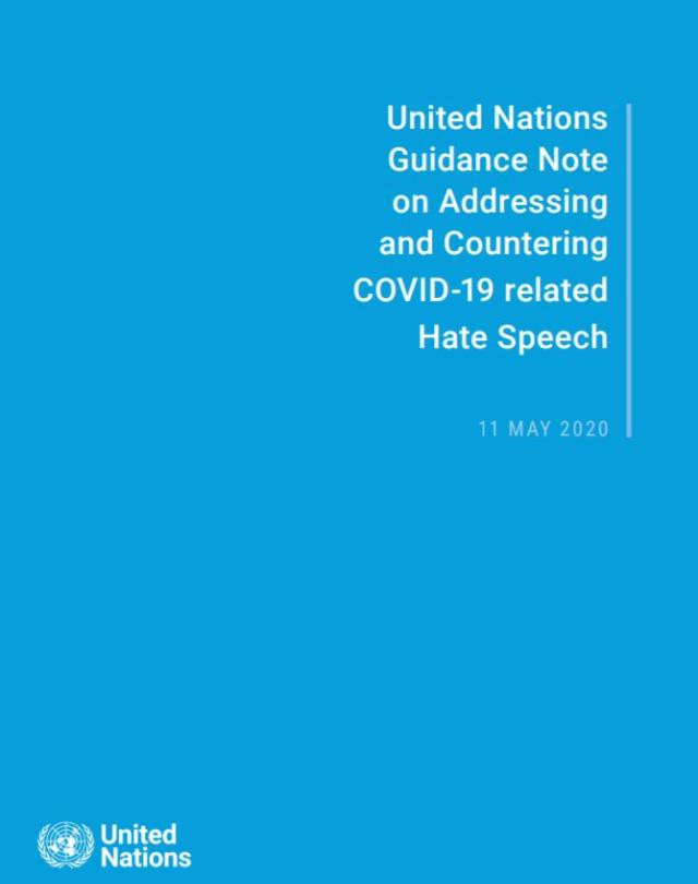 Guidance Note on Addressing and Countering COVID-19 related Hate Speech