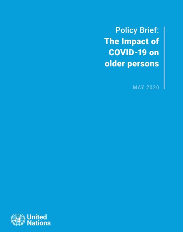 Policy Brief: The Impact of COVID-19 on older persons